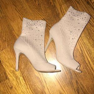 NEW Nude Sock heels